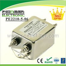 PE2210 1A~35A 120/250VAC Single Phase two stage filters,noise washing machine filtering