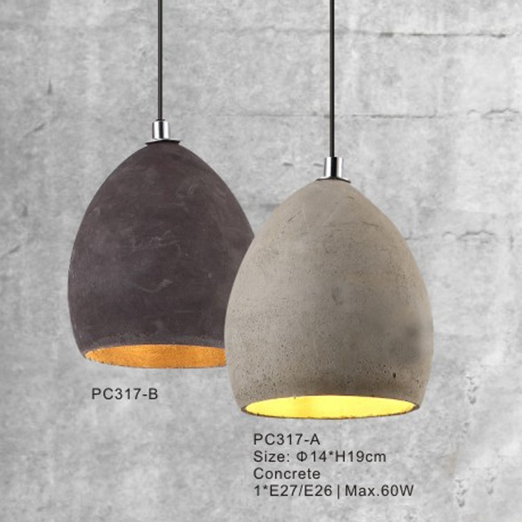 Buy Orb Mini Long Gray Concrete Home Decorative Hanging Lights