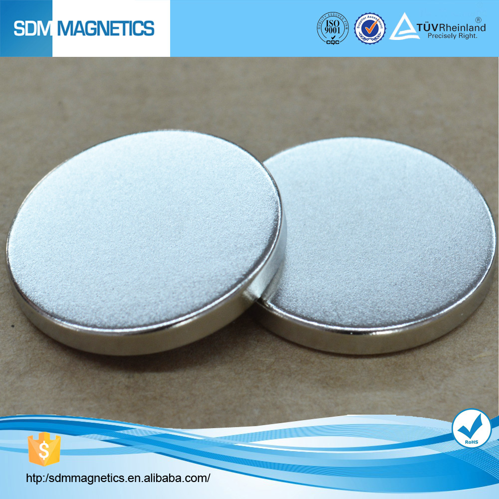 ISO/TS16949,ROHS thin small disc/cylinder N52 Neodymium Magnet