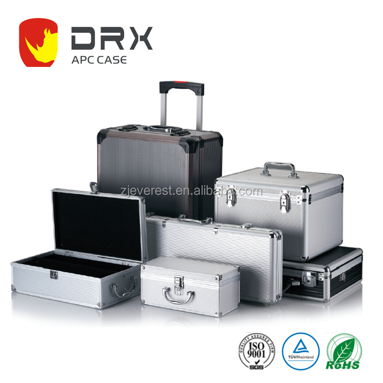 Black Aluminum Storage Carrying Case Box For Tools Camera and Equipment with Wheels