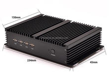 New arrival Fanless Mini PC Window Core i5 3317U processor Dual LAN 4*RS232 COM Port industrial PC Rugged computer Rugged PC
