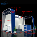 6x6 exhibition booth trade show exhibit display modular exhibition stand systems