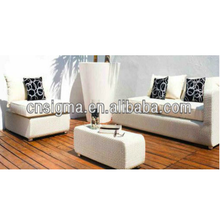 2017 Trade Assurance New Style outdoor elegant pe white rattan resin wicker sofa set furniture garden furniture