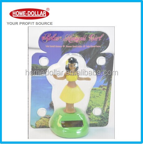Popular ABS Lovely Dancing Girl Solar Powered Swing Doll