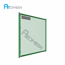 High Security Wire Mesh Galvanized PVC Coated Chain link School Sports Fence Panel/ Tennis Court Fence