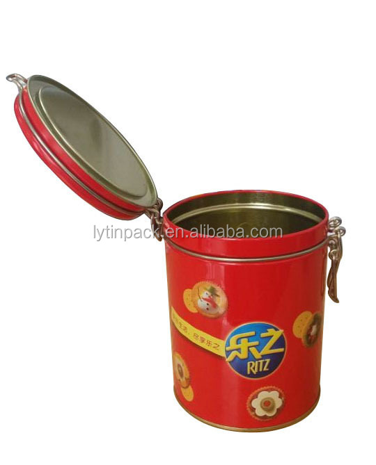 cookie chocolate tin packaging box with lock