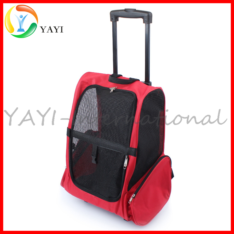 Plus Traveler Rolling Pet Backpack Carrier For Cats Dogs