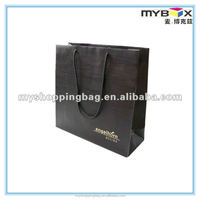 Black paper gift bag for shop