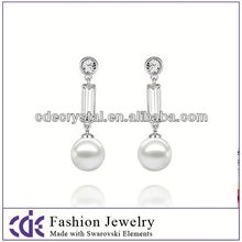 Factory price pictures of gold earrings made with Swarovski elements