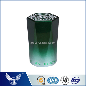 Hexagon blackish green plastic top-openiing cap for wine bottle