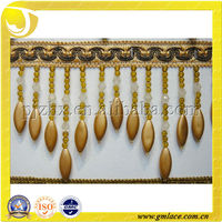 Costumes of Plastic Long Beads Fringe For Curtain Decoration
