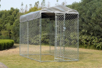 2015china hot sale US/Canada/AU new design large dog run kennel with top cover
