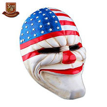 Custom made wholesales decorative resin clown mask head figurines