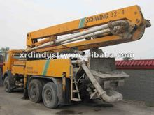 32M Used Schwing Concrete Pump Truck,Mercedes-Benz Chasis