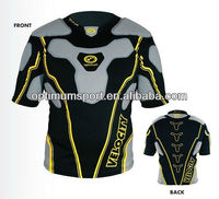 2013 The Newest Lightweight Lycra Rugby Protection Padded Shirt