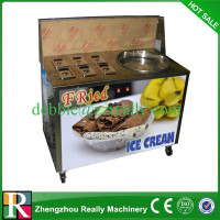 single pan fried ice cream machine in cheap price high quality fried ice cream machine for sale