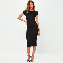 Free Sample Fashion Short Sleeve Casual Women Summer Bodycon Lady Dress