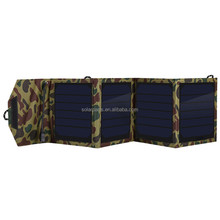 foldable solar charger solar power bank charger with USB charger for charging cellphone
