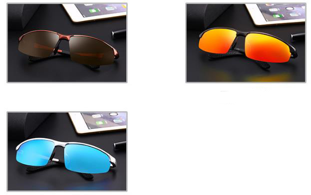wholesale small order stock Hot sale Men's personality Trendy Outdoor Sports Driving Polarized Sunglasses