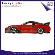 Cool Personalised Custom Car Shaped Metal Logo Enamel Badges For Sale
