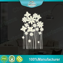 Custom designs flowers glow in the dark wall stickers home decor