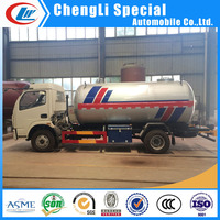 Dongfeng gas delivery tank truck 8000Liters mini lpg bobtail tank truck