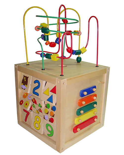 Kids Educational 6 Sides Multi Functional 6 In 1 Large Wooden Super  Intelligent Toy Learning Design Inspirations
