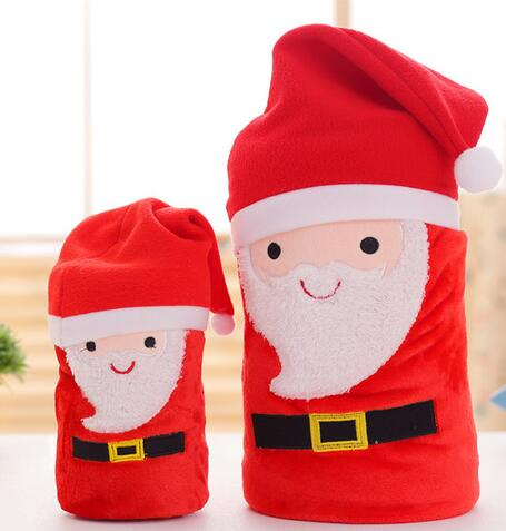 Hot Sales New Volume Warm Blanket Santa Claus Printed coral fleece Blankets Spring Autumn Christmas Gift Travel