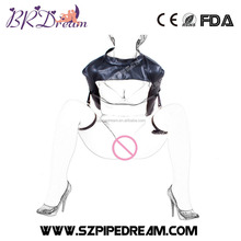 fashion open leg leather bondage thigh ring belt expose breast hand arm restraints bags clothes bdsm fetish wear for woman
