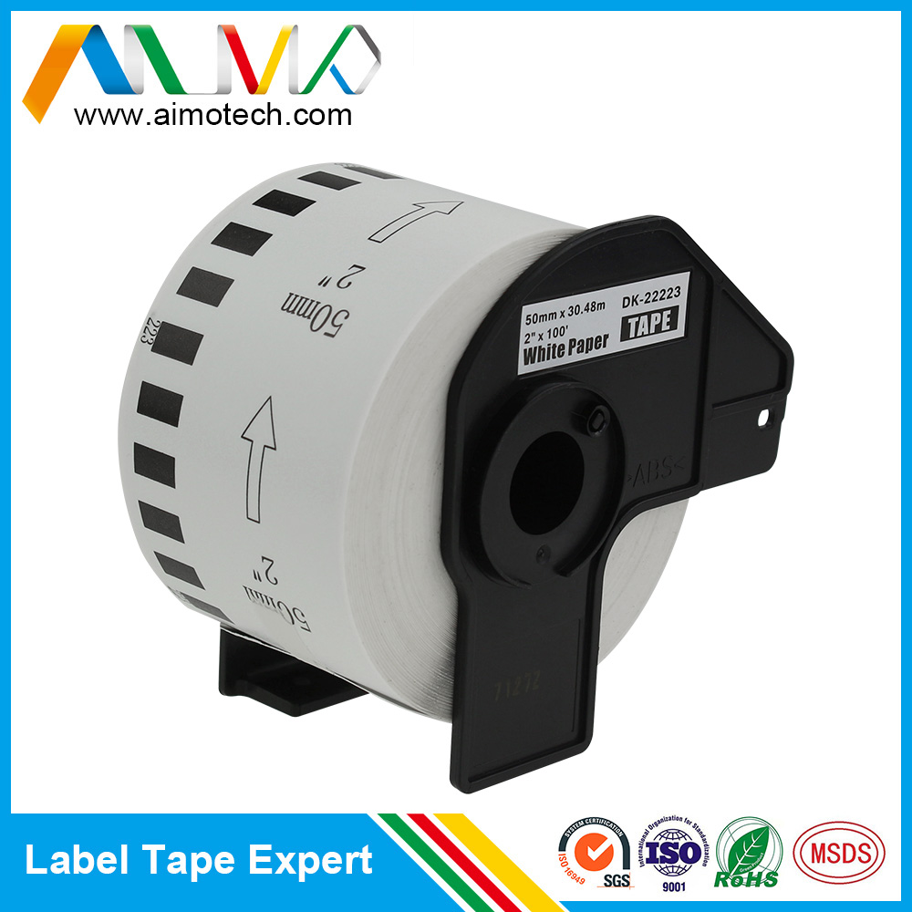 Wholesale Printer Brother In China Online Buy Best Label Tape Tze M951 24mm Black On Silver Matt Dk22223 Continuous Length White Paper 50mm X 3048m For Strongbrother