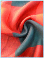 2016 yarn dyed popular rayon/viscose print fabric with elastane