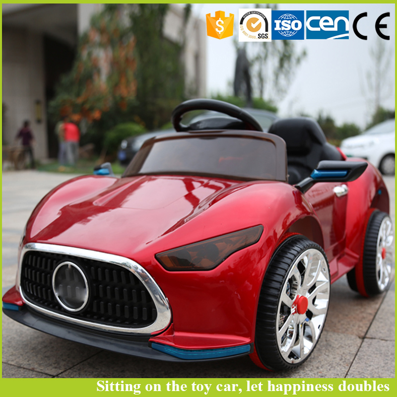 New 2016 product music paint red children electronic toy car with baby shield safety car seat