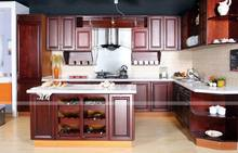 Most popular updated up red wine lacquer kitchen cabinet