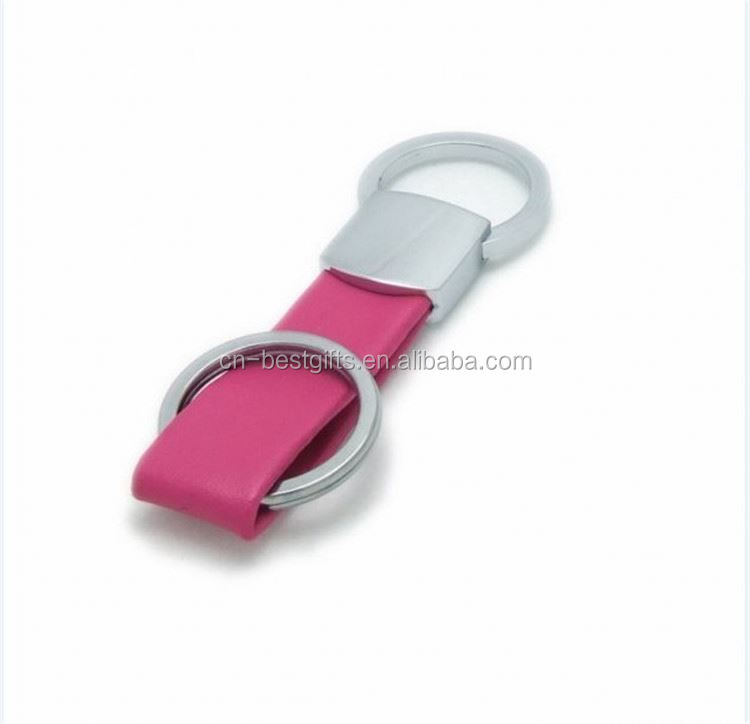 New product excellent quality genuine leather car key chain on sale