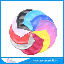 Waterproof colorful Silicone Swimming Hats, Adult Silicone swim Caps
