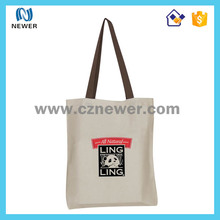 Professional cute eco standard size organic china blank cotton tote bag