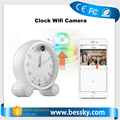 960p WIFI mini hidden clock audio remote monitoring tf card p2p night vision battery powered cctv clock camera wide angle
