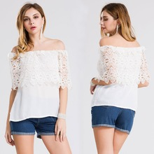 C71433A new spring fashion products lace blouse designs lady blouse