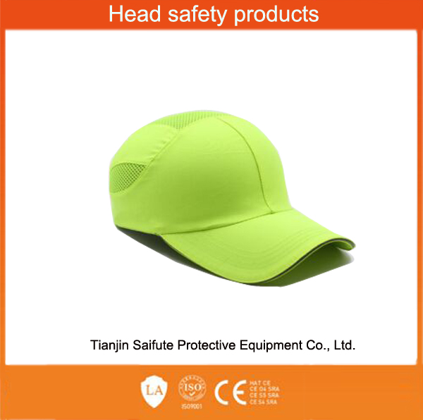 100% cotton fabric LED safety helmet hats
