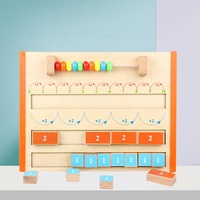 Educational Digital Cognitive Arithmetic Abacus Learning Montessori wooden math toys