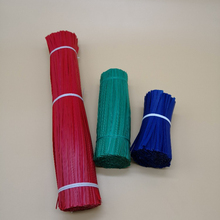 plastic coated wired twist ties for packaging