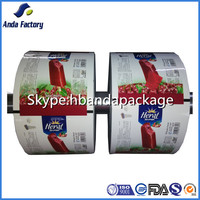 sour cherry ice cream plastic packaging wrapper film