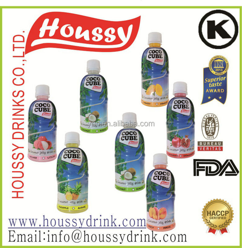 Houssy best selling nata de coco drink with pure coco pulp