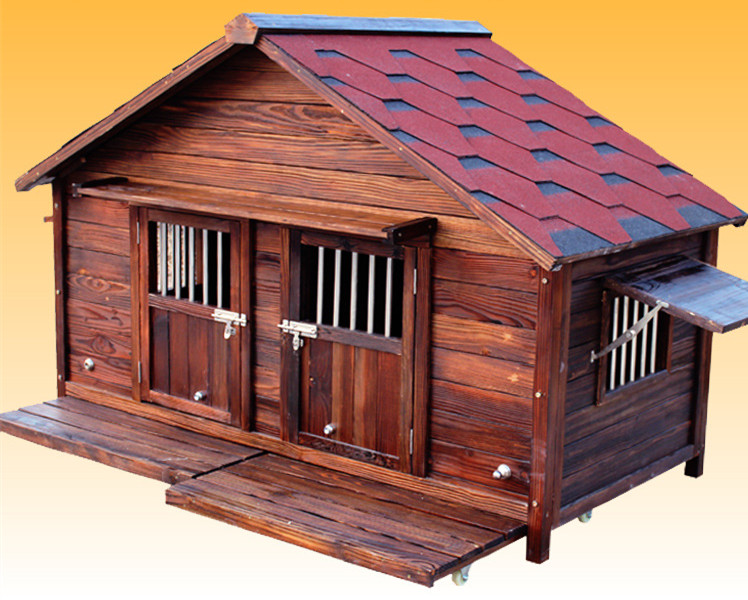 Refinement Anti-corrosion Insulation Carbonization Wood Dog Kennel for Sale