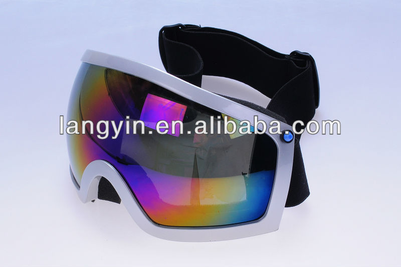 Winter fashion snowboard goggles, racing ski goggles with 720P video camera
