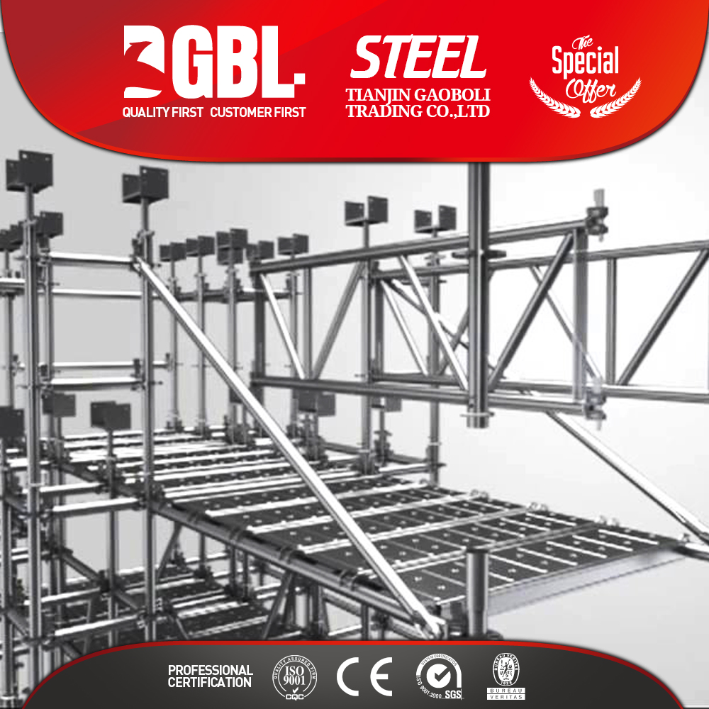 Building all-round scaffolding system