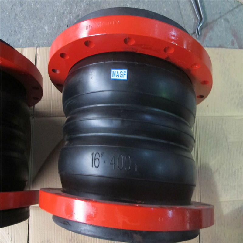 Hot sale Red Flanged flexible rubber expansion joint