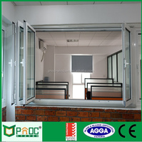 Australia standard AS2047 large customied double glazed aluminum sliding folding windows and doors
