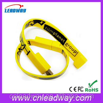 factory OEM convinent bracelet pvc usb flash drives