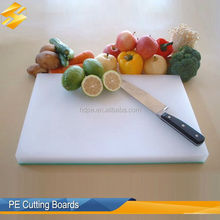 Long lasting PE vegetable cutting board/ natural and non- toxic chopping blocks hdpe plastic board